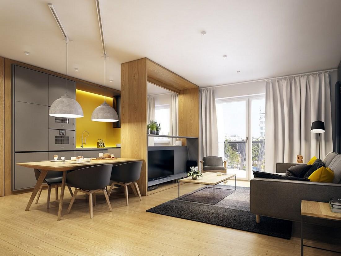 Правильное зонирование гостиной