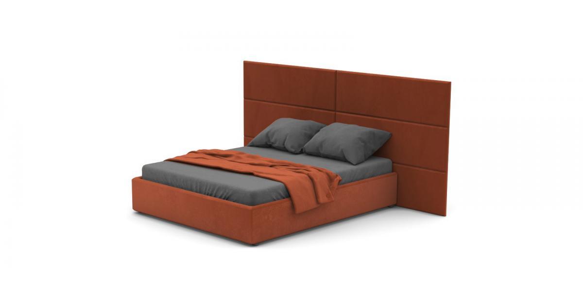Кровать Foglia Plus со стеновыми панелями