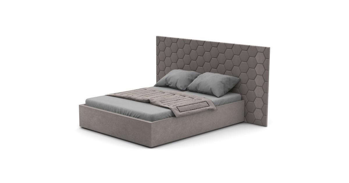 Кровать Senza Plus со стеновыми панелями