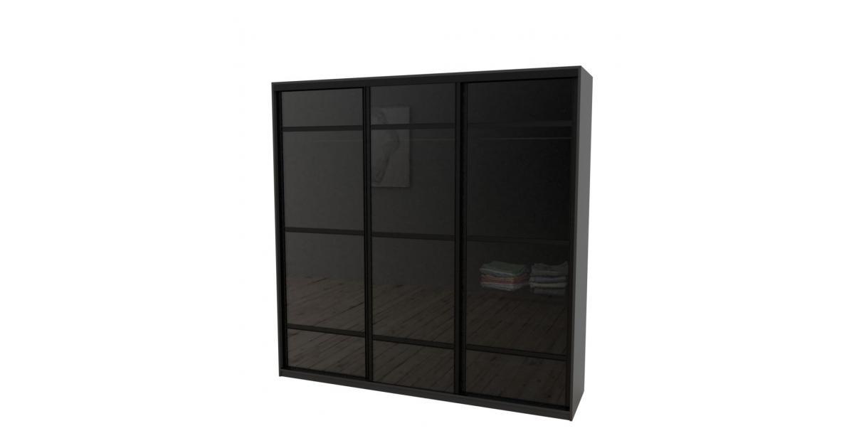 Шкаф-купе Arino 3х дверный с разделенными стеклянными фасадами