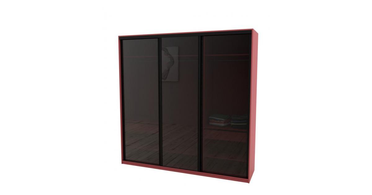 Шкаф-купе Arino 3х дверный с цельными стеклянными фасадами