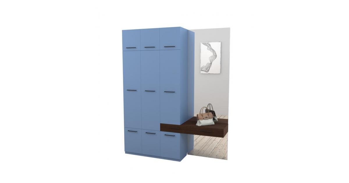 Прихожая Arino c модулем шкафа тумбой и зеркалом